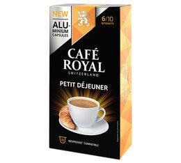 Café Royal Capsules Aluminium Café Royal Petit Déjeuner x10 pour Nespresso