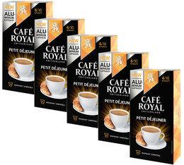 Café Royal Pack Capsules Aluminium Café Royal Petit Déjeuner 5x10 pour Nespresso