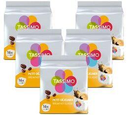 Tassimo Pack Dosettes Tassimo Petit Déjeuner Classique - 5 x 16 T-Discs