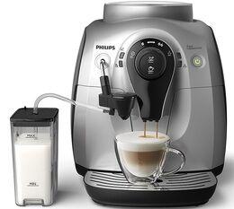 Philips Serie 2100 Silver Cappuccino HD8652/51 Pack Sérénité  - Garantie 2 ans + 1 AN OFFERT ! - Machine à café automatique