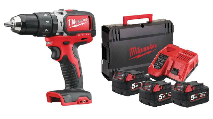 Milwaukee Perceuse à percussion M18 BLPD-503X MILWAUKEE - 3 batteries + 1 chargeur + HD Box - 4933464486