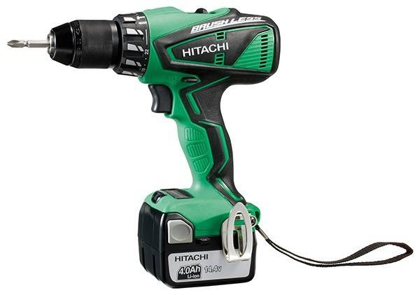 Hitachi Perceuse visseuse à percussion HITACHI - HIKOKI 14.4V 4Ah Li-Ion 13 mm - DV14DBEL4A