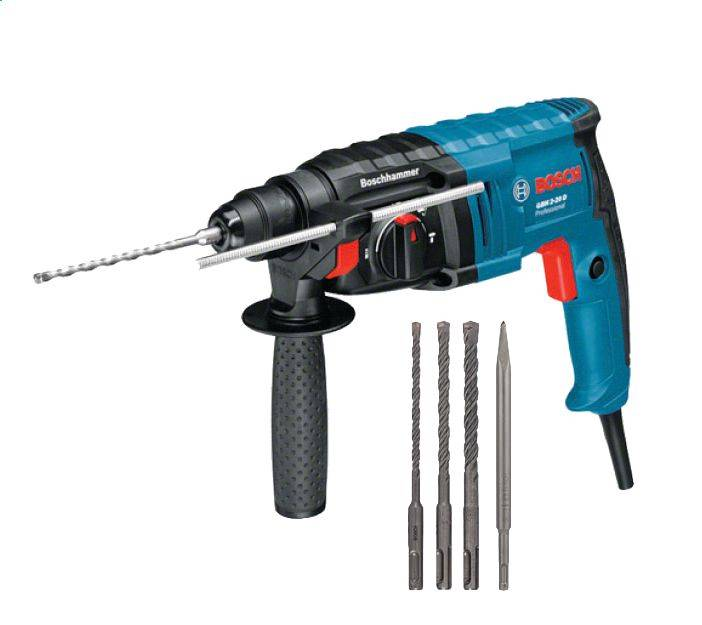 Bosch Perforateur BOSCH GBH 2-20 D - 650W SDS-plus - 3 forets + burin + coffret - 061125A403