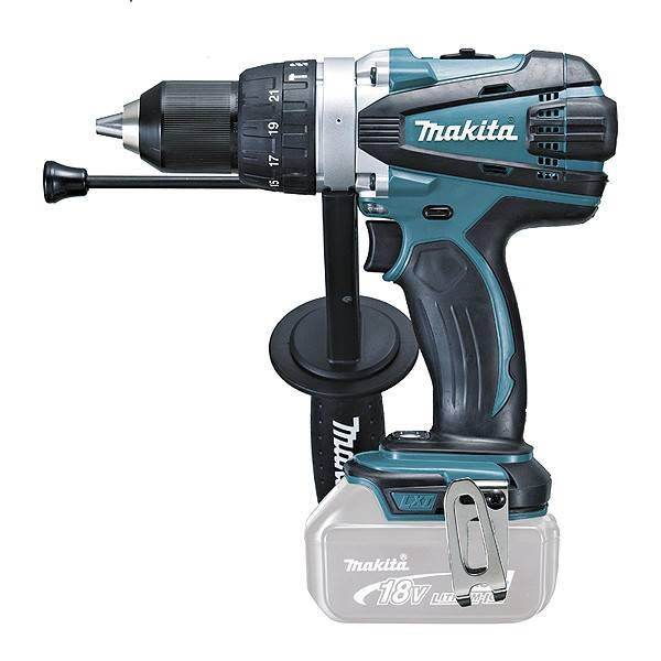 Makita Perceuse visseuse à percussion MAKITA 18V Li-Ion Ø13 mm - Sans batterie, ni chargeur - DHP458Z