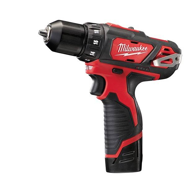 Milwaukee Perceuse Visseuse MILWAUKEE 12V 2.0Ah Li-Ion M12BDD202CL - 2 Batteries 12V 2Ah - 4933441915