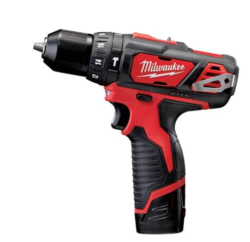 Milwaukee Perceuse à percussion MILWAUKEE 12V 2 vitesses 2Ah li-ion 30nm + 2 batteries m12 BPD-202C - 4933441940