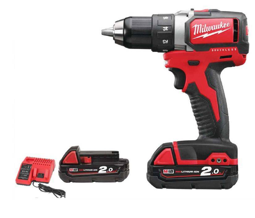 Milwaukee Perceuse visseuse MILWAUKEE M18 BLDD-202C - 18V + 2 batteries 2.0Ah, chargeur - 4933448441