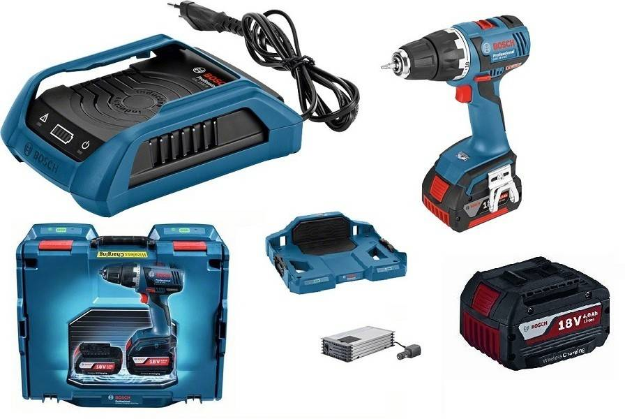 Bosch Perceuse-visseuse BOSCH GSR 18V-EC - 2 Batteries 4.0Ah + Chargeur induction, coffret - 0615990h61