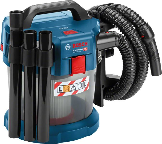 Bosch Aspirateur BOSCH GAS 18V-10 L - Kit Professional - 2 batteries 18V 5.0Ah, chargeur, coffret - 06019C6301