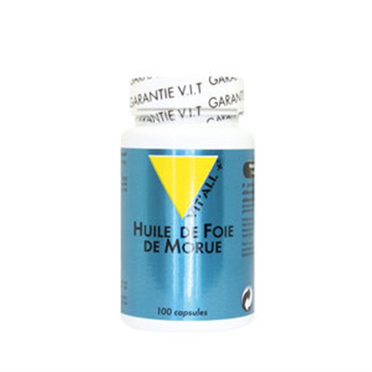 Vit'all+ Huile de Foie de Morue source naturelle de vitamines A et D