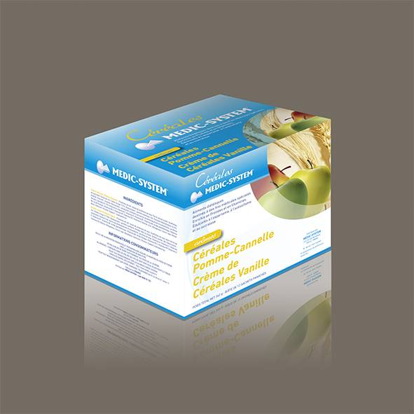 Medic-system Crèmes de Céréales protéinées Vanille Pomme-Cannelle