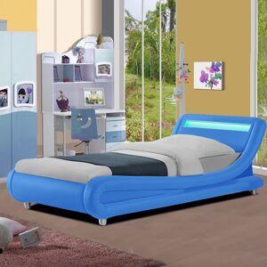 Lit pour enfant 90 avec led Julio - Couleurs - Bleu, Tailles - 90x190 - Publicité