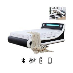 Lit LED avec haut-parleurs intégrés Bluetooth et coffre de rangement AMIR - Tailles - 90x190 - Publicité