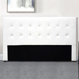 Tête De Lit Capitonnée Capitole - Couleurs - Blanc, Tailles tête de lit - 160 cm - Publicité