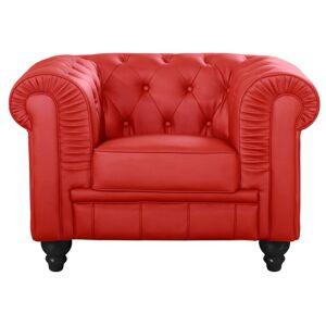 Fauteuil Chesterfield capitonné - Couleurs - PU Rouge, Types de canapé - Fauteuil Chesterfield - Publicité