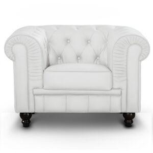 Fauteuil Chesterfield capitonné - Couleurs - PU Blanc, Types de canapé - Fauteuil Chesterfield - Publicité