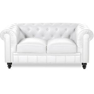 Chesterfield canapé 2 places - Couleurs - PU Blanc, Types de canapé - 2 places Chesterfield - Publicité