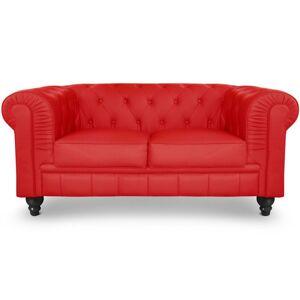 Chesterfield canapé 2 places - Couleurs - PU Rouge, Types de canapé - 2 places Chesterfield - Publicité