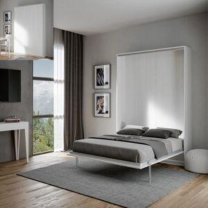 Armoire lit escamotable Kentaro 140 - Couleurs - blanc cendré, Tailles - 140x190 - Publicité