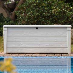 Keter Coffre de piscine en résine blanc 455L Pool Box  Keter