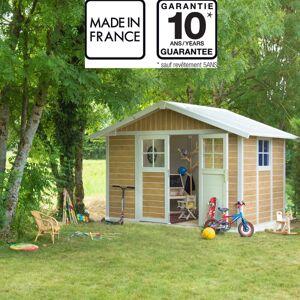 Grosfillex Abri de jardin en PVC 7,5m² DECO Sherwood Grosfillex + kit ancrage offert - Publicité