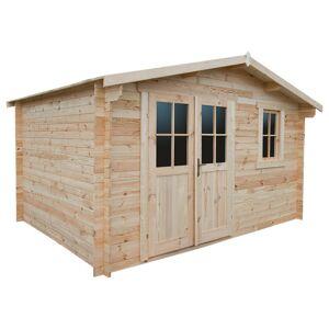 Gardy Shelter Abri de jardin en bois massif 12m² PLUS - madriers 28mm Gardy Shelter - Publicité
