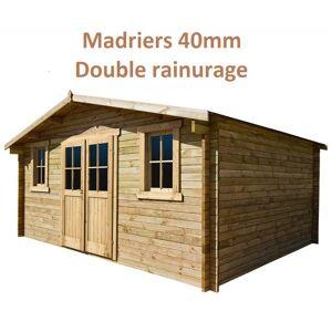 Gardy Shelter Abri de jardin 16m² PLUS en bois 40mm traité teinté marron Gardy Shelter - Publicité