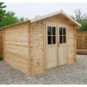 Gardy Shelter Abri de jardin en bois massif 9m² PLUS - madriers 28mm Gardy Shelter - Publicité