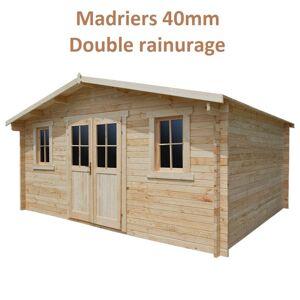 Gardy Shelter Abri de jardin 16m² PLUS en bois 40mm brut Gardy Shelter - Publicité
