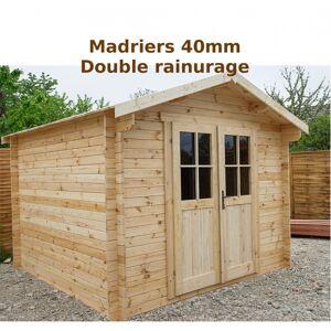 Gardy Shelter Abri de jardin 9m² PLUS en bois 40mm brut Gardy Shelter - Publicité