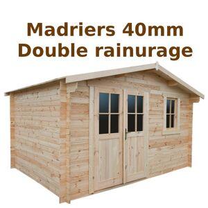 Gardy Shelter Abri de jardin 12m² PLUS en bois 40mm brut Gardy Shelter - Publicité
