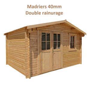Gardy Shelter Abri de jardin 12m² PLUS en bois 40mm traité teinté marron Gardy Shelter - Publicité