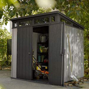 Keter Abri en résine brossée monopente Brossium 4,7m² + plancher Keter - Publicité