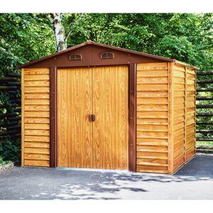 X-Metal Abri de jardin en métal aspect bois 6,62m² + kit d'ancrage - X-METAL - Publicité