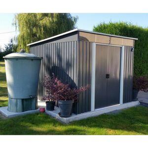 X-Metal Abri de jardin métal 6,67m² Skylight anthracite + kit d'ancrage X-METAL - Publicité