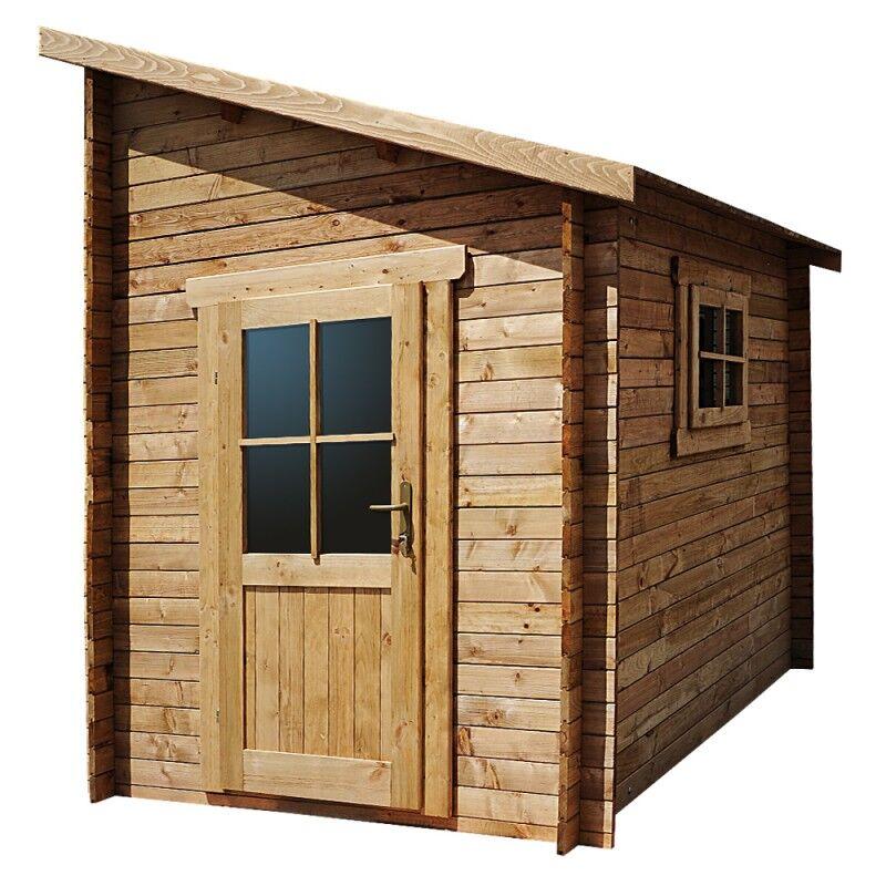 Gardy Shelter Abri adossé 5,96m² PLUS madriers 28mm traités marron Gardy Shelter