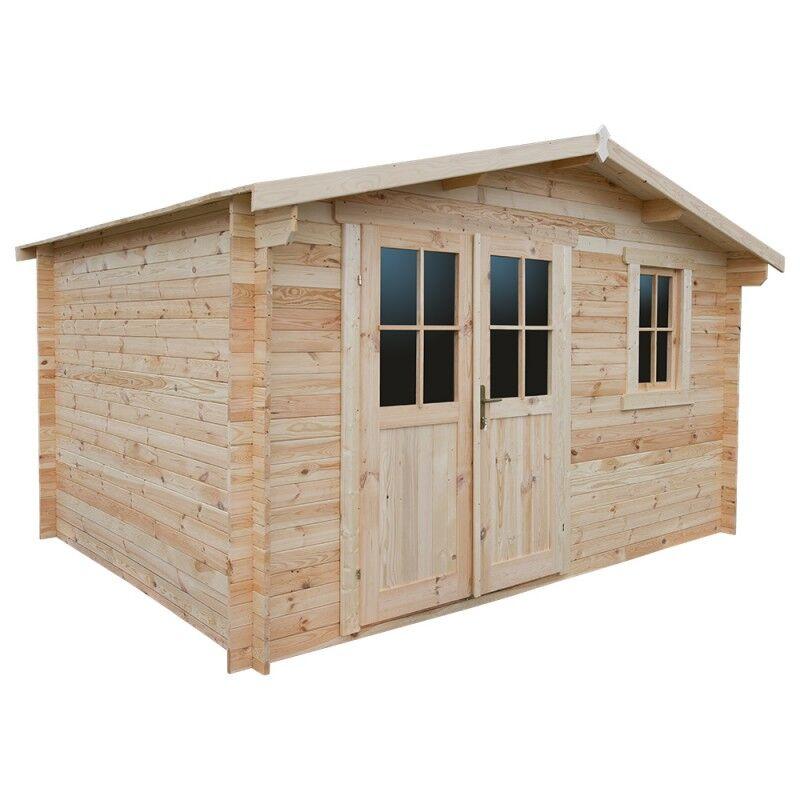 Gardy Shelter Abri de jardin en bois massif 12m² PLUS - madriers 28mm Gardy Shelter