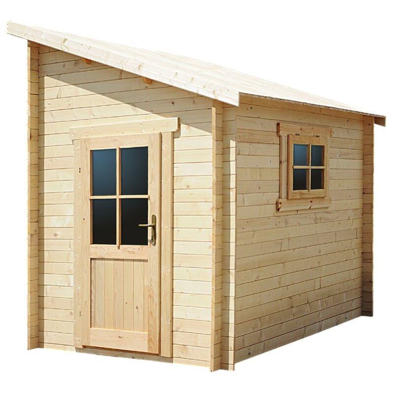 Gardy Shelter Abri adossé 5,96m² PLUS en bois massif 28mm Gardy Shelter