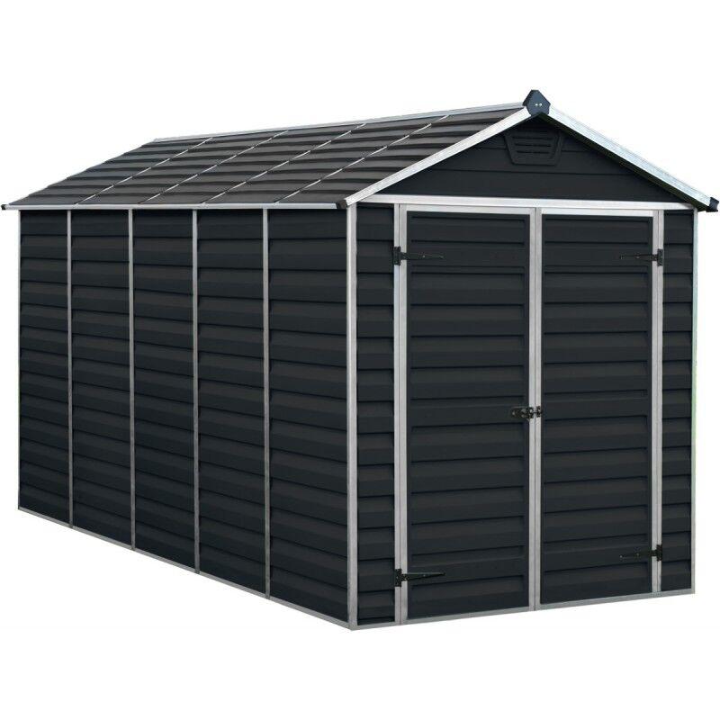 Palram Abri de jardin en polycarbonate 6,59m² Skylight Midnight Grey - Palram