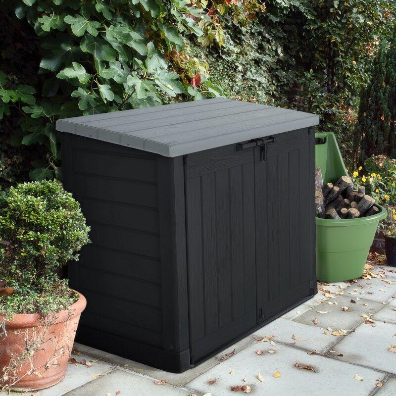 keter coffre de jardin multifonctions en résine 1200l toit plat - keter