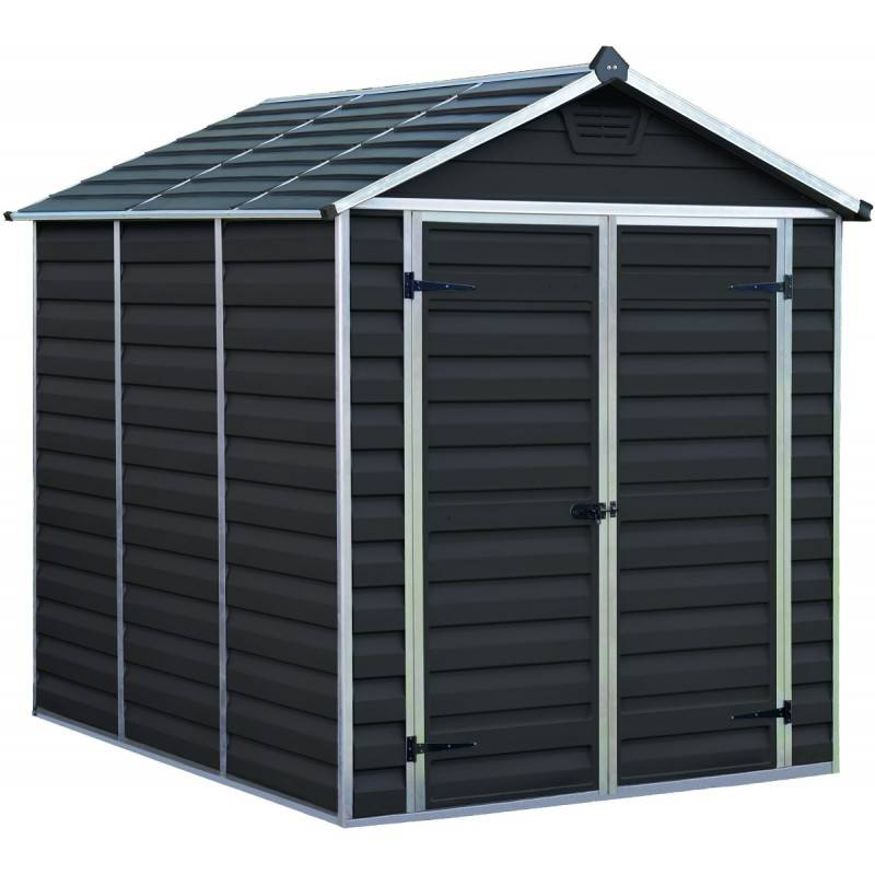 Palram Abri de jardin en polycarbonate 3,97m² Skylight Midnight Grey - Palram