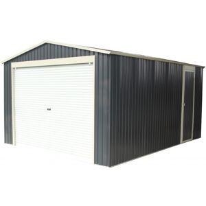X-Metal Garage métal anthracite 19,52m² porte enroulable + kit d'ancrage X-METAL - Publicité