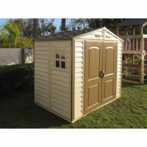 Duramax Abri de jardin en PVC WoodStyle Premium 4,13m² Duramax
