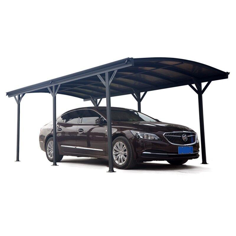 X-Metal Carport en aluminium anthracite 3x5,05m et polycarbonate 6mm X-METAL