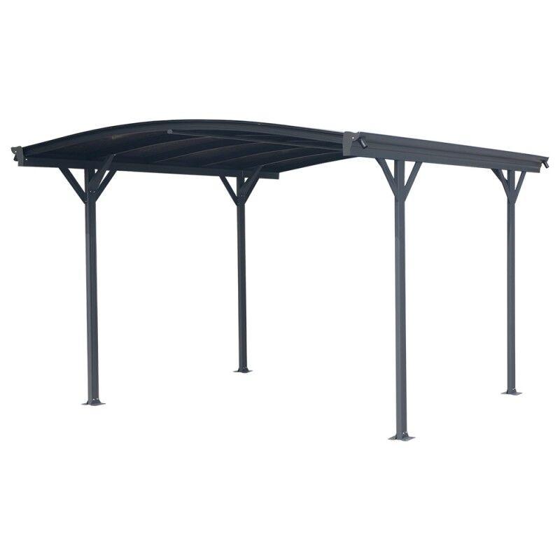 X-Metal Carport en aluminium anthracite 3x3,63m et polycarbonate 6mm X-METAL