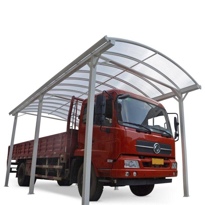 X-Metal Carport camping car blanc en aluminium 3,59x7,62m et polycarbonate 6mm X-METAL