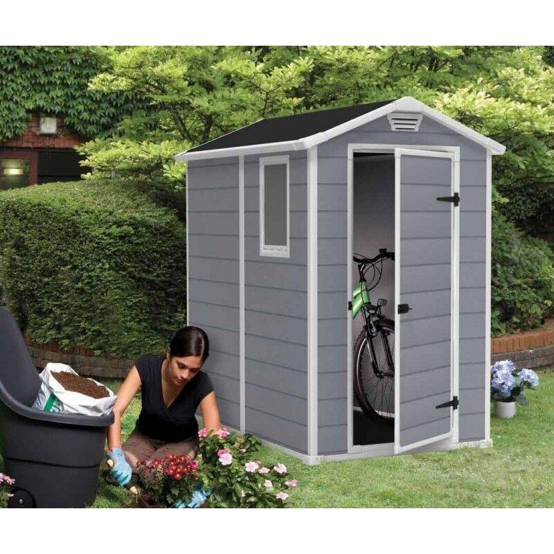 Keter Abri de jardin en résine 2,5m² Premium 46 S gris clair + plancher - Keter