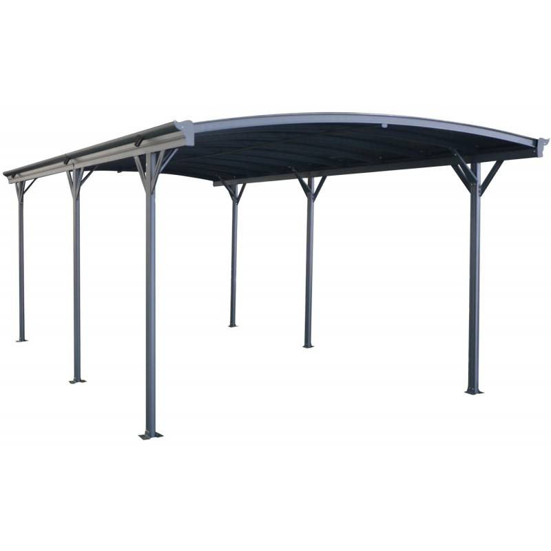 X-Metal Carport en aluminium anthracite 3x6,47m et polycarbonate 6mm X-METAL