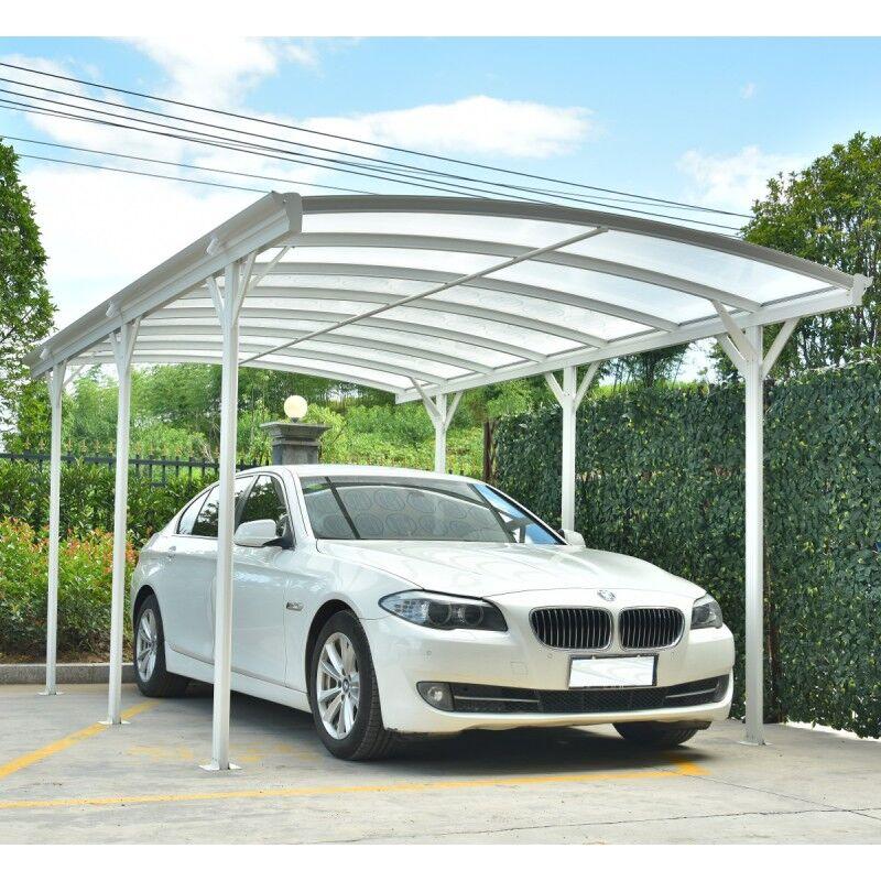 X-Metal Carport en aluminium blanc 3x5,05m et polycarbonate 6mm X-METAL