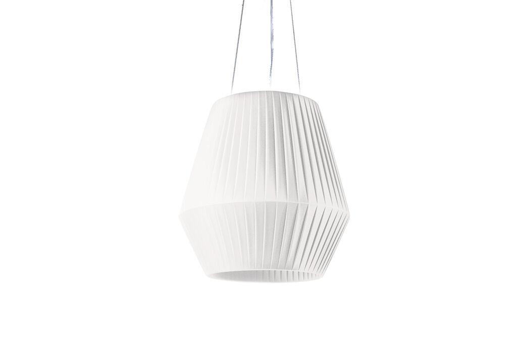 Dix Heures Dix Suspension Luminaire avec Abat-Jour en Ruban Ø 45 cm (Pls Coloris)